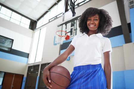 Portrait Of Female High School Basketball Team Coach
