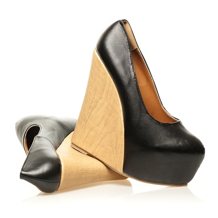High Heels with extreme platform sole in wedge style