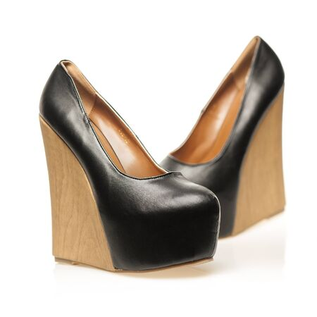 High Heels with extreme platform sole in wedge style Stock Photo - 16761472