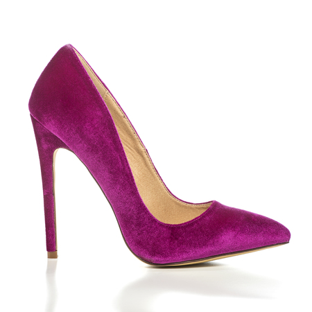 Classic stiletto high heels shoes in pink suedevelvet.PLEASE NOTE: this is a no-name product from a chinese outdoor-market and not a branded designer product.