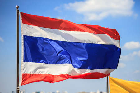 National flag of Thailand Stock Photo