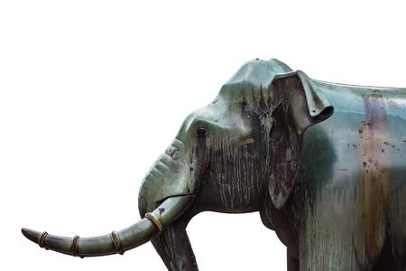 elephant statue isolated over white Stock Photo - 19419545