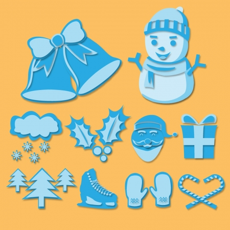 Winter icons set,Vector  Illustration