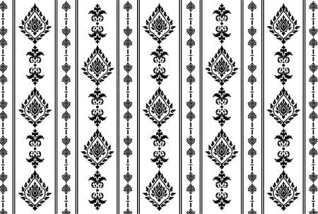 Thai art wall pattern illustrations  Illustration