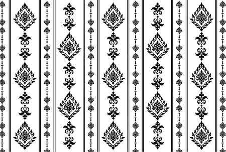 Thai art wall pattern illustrations  Stock Illustratie