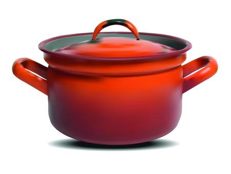 The orange pot