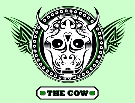 The cow - artwork for t-shirt Illustration