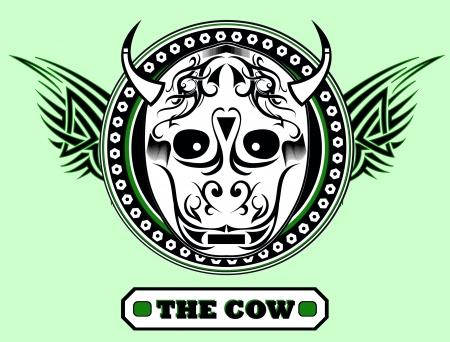 The cow - artwork for t-shirt Illustration
