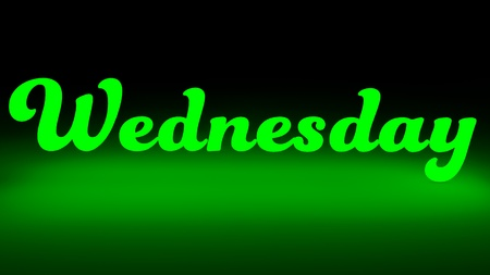 wednesday: Wednesday to night,Day of the week