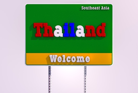 Welcome thailand 3D render image Stock Photo - 19859361