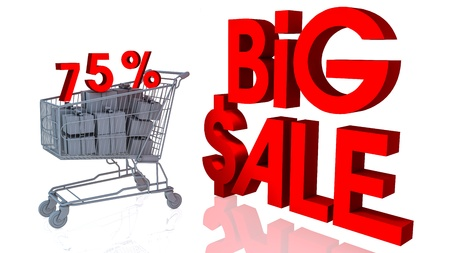 75 percentages big sale in 3d