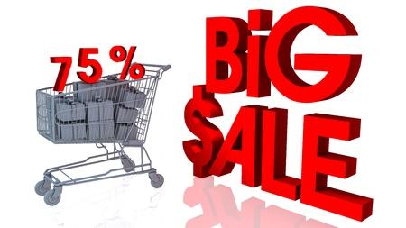 75 percentages big sale in 3d