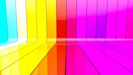 Ribbon wall colorful 3d render