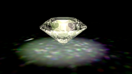 Diamond jewelry on black background Stock Photo