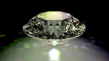 Diamond jewelry on black background Stock Photo