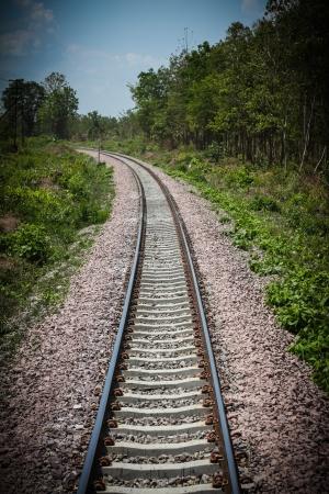 Railway station northern in Thailand photo