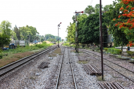 Railway station northern in Thailand photo