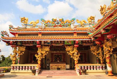 Dragon joss house in Bangkok,Thailand