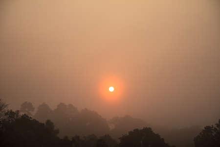 Morning sun in Nakhon Ratchasima,Thailand Stock Photo