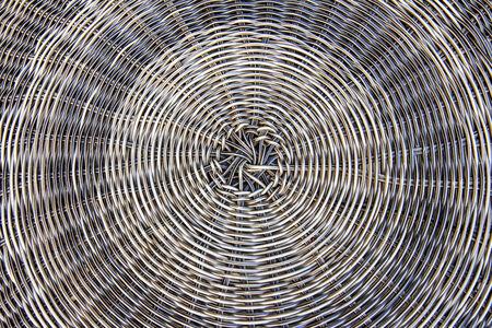 Decorative straw wickerwork, detail Stock Photo