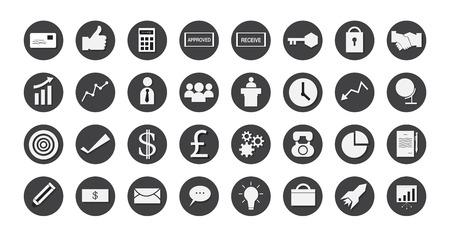 business icons set. illustration