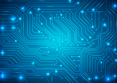 science and technology: abstract vector background with high tech circuit board