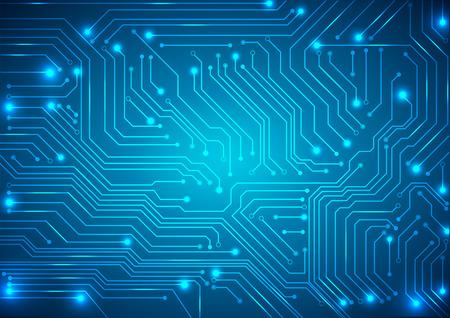 circuito electrico: vector de fondo abstracto con la tarjeta de circuitos de alta tecnología Vectores