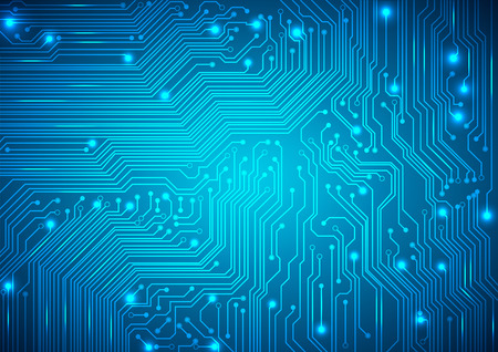 circuit board vector blue background