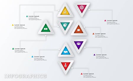 Modern Triangle Business Infographic Design Template
