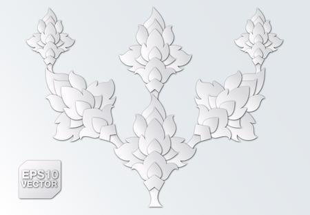 paper cut thai design elements