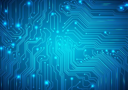 altas: Vector de fondo tecnológico con una textura de placa de circuito Vectores
