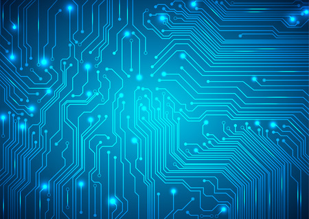 circuitos electronicos: Vector de fondo tecnológico con una textura de placa de circuito Vectores