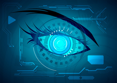 futuristic eye: Vector illustration Abstract futuristic eye