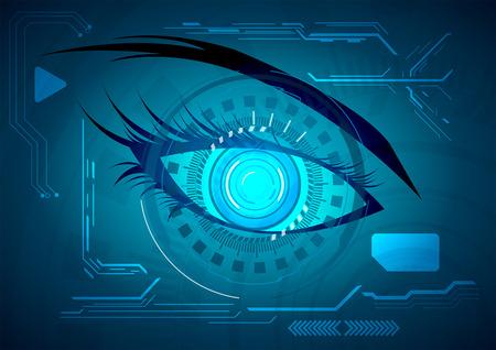 futuristic eye: Vector illustration Abstract futuristic eye