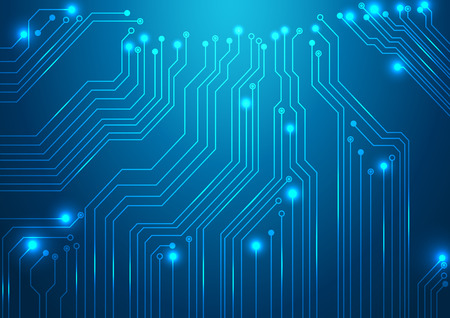 high tech vector background with circuit board texture