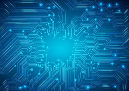 テクノロジー: ベクトル。デジタル技術の抽象的な背景。  イラスト・ベクター素材