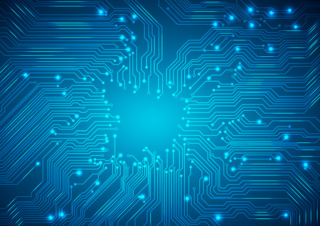 printed circuit board: Vector. Digital technologies abstract background. Illustration