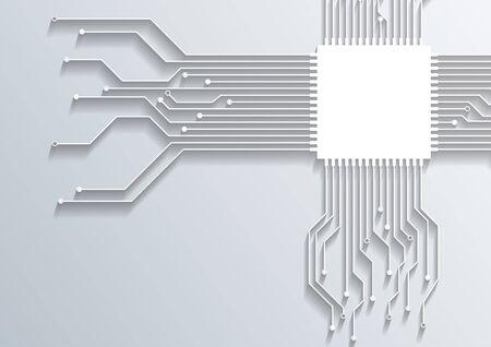 3d circuit board background texture.vector Ilustracja