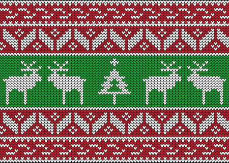 Christmas and Winter knitted seamless pattern