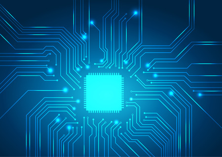 printed circuit board: circuit board background texture.vector Illustration