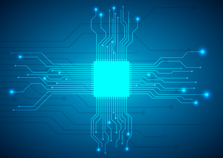circuit board vector background Illustration