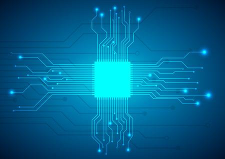 circuit board vector background Ilustracja