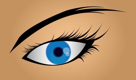 Female blue eye.vector illustration Illustration