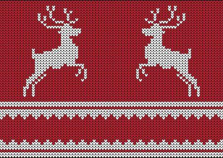 renna: Natale vettore sfondo ponticello con renne Vettoriali