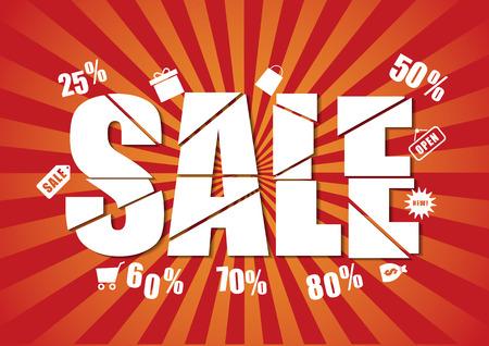last chance sale design template Vectores