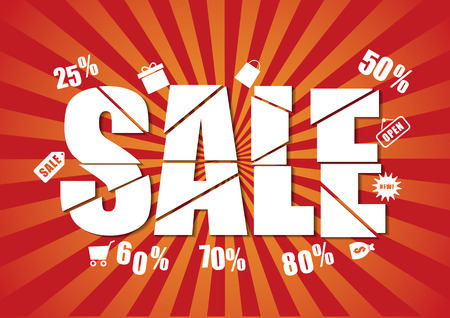 last chance sale design template Illustration