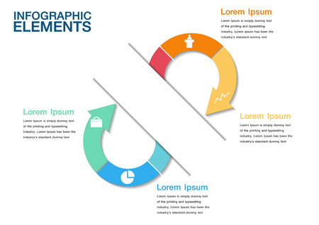 consecutive: Infographics design template.  Illustration