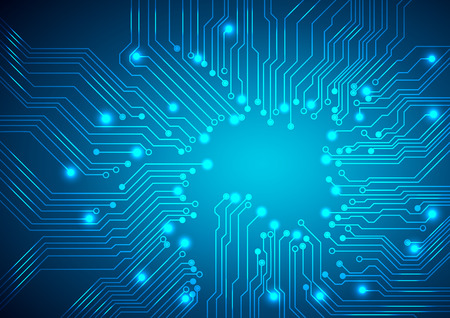 electronic circuit board: circuit board background Illustration