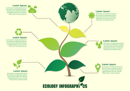 Infographic design with abstract tree