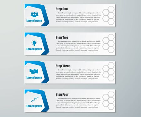 Design clean number banners template.graphic or website layout. Vector